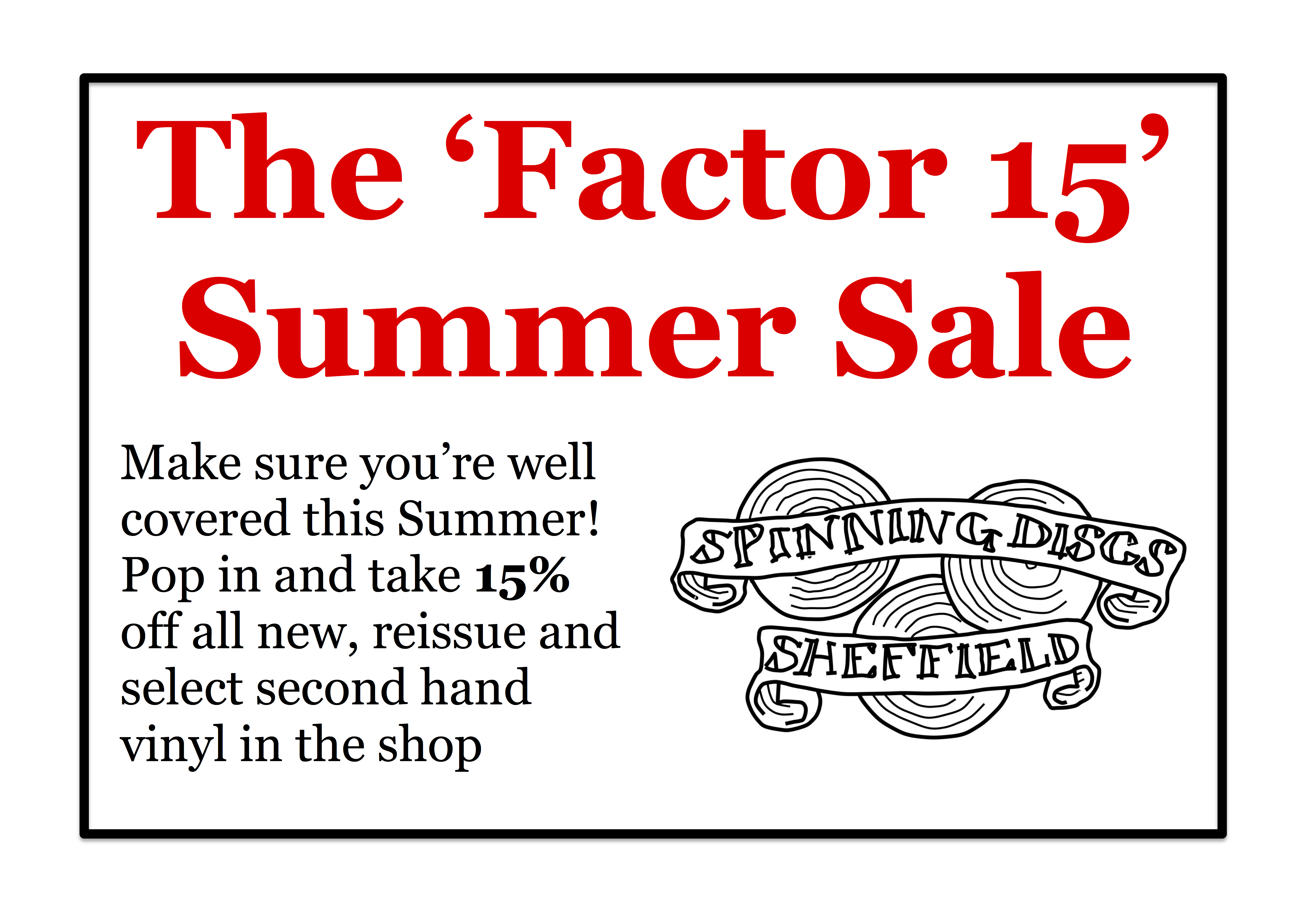Factor 15 Summer Sale